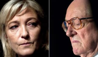 Marine Le Pen and Jean-Marie Le Pen