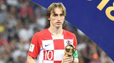 Croatia and Real Madrid star Luka Modric won the 2018 World Cup Golden Ball award