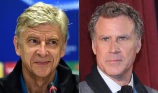 Arsene Wenger and Will Ferrell