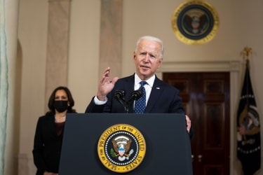 Joe Biden delivers remarks at the White House following the verdict
