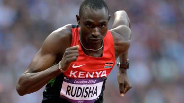 800 metres world record-holder David Rudisha