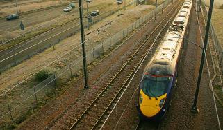 Southeastern train travels through Kent