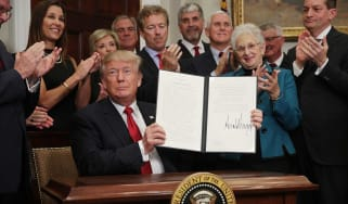 Donald Trump signs executive order to allow small business to skirt Obamacare rules