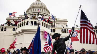 Pro-Trump supporters storm the U.S. Capitol following a rally with President Donald Trump.