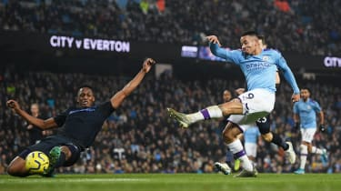 Manchester City striker Gabriel Jesus was on target against Everton in January