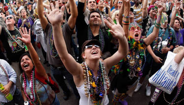 New Orleans drains have been clogged by Mardi Gras signature plastic beads