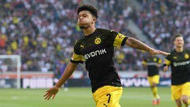 England winger Jadon Sancho has impressed in Germany for Borussia Dortmund