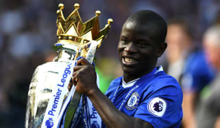 N'Golo Kante won the Premier League with Chelsea in 2016-17 and Leicester City in 2015-16