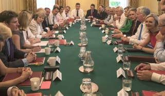 Theresa May's first cabinet meet in July 2016