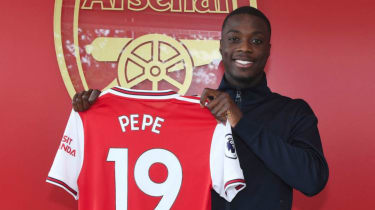 Winger Nicolas Pepe has become Arsenal's record signing after joining from Ligue 1 club Lille