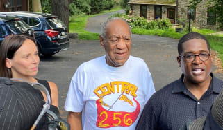 Bill Cosby outside his home after being released from prison