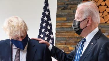 Boris Johnson and Joe Biden meet at the G7 in Cornwall