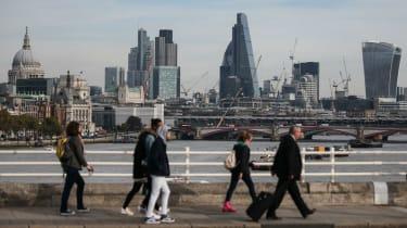 The City of London seen from Waterloo Bridge