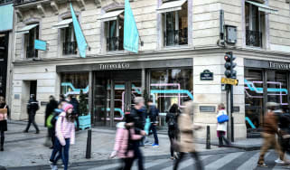 A Tiffany & Co shop in Paris, France