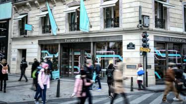 A Tiffany & Co shop in Paris, France