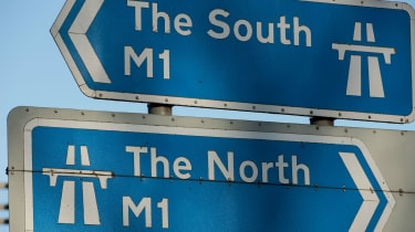North-south road signs