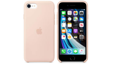 Apple iPhone SE silicone case pink sand