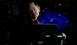 "PASADENA, CA - JANUARY 14:Scientist Stephen Hawking of ""Into The Universe With Stephen Hawking"" speaks via satellite during the Science Channel portion of the 2010 Television Critics Associat"