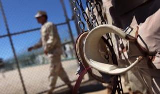 Shackles hang at Guantanamo Bay, Cuba