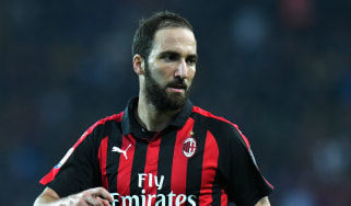 Argentina striker Gonzalo Higuain is currently on loan at AC Milan from Juventus
