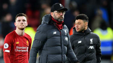 Liverpool manager Jurgen Klopp reacts after the Premier League defeat against Watford