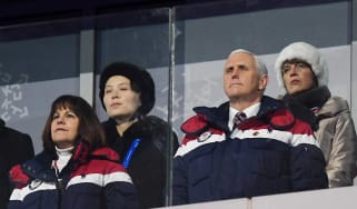 Mike Pence and Kim Yo Jong at the opening ceremony of the 2018 Winter Games