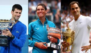 Novak Djokovic, Rafael Nadal and Roger Federer are the 'big three' of men's tennis