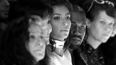 Kim Kardashian and Kanye West - Paris Fashion Week