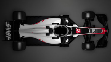Haas F1 Team 2018 car VF-18