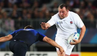 Steve Thompson in action for England against France