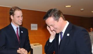 Prince William and David Cameron
