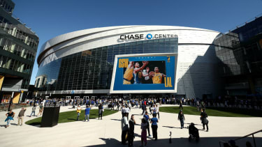 Golden State Warriors played the LA Lakers in a pre-season game at Chase Center on 5 October