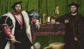 Hans Holbein the Younger (1497/8   1543) Jean de Dinteville and Georges de Selve ('The Ambassadors'), 1533 Oil on oak