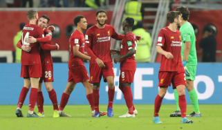 Liverpool celebrate their victory over Monterrey in the Fifa Club World Cup semi-final