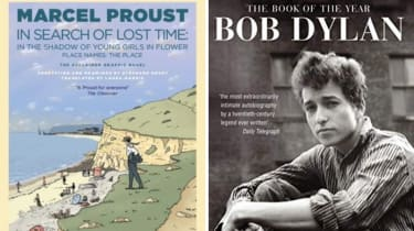 In the Shadow of Young Girls in Flower by Marcel Proust and Chronicles: Volume One by Bob Dylan