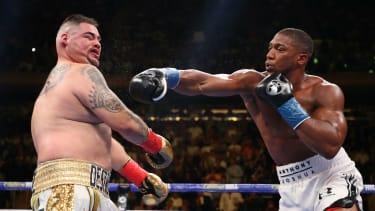 British heavyweight boxer Anthony Joshua fights world champion Andy Ruiz Jr on 7 December
