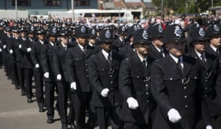 Met police cadets on parade