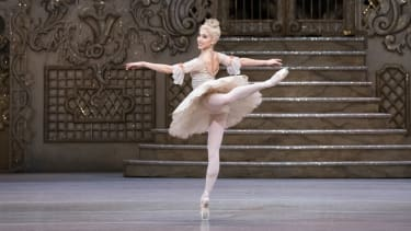 Ballet dancer performing as the Sugar Plum Fairy in The Nutcracker Reworked