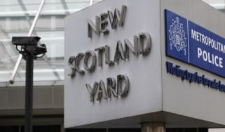 A view of New Scotland Yard, the Metropolitan Police headquarters in London