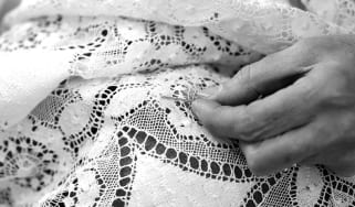 Repairing a piece of lace by hand