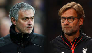 Manchester United manager Jose Mourinho and Liverpool boss Jurgen Klopp