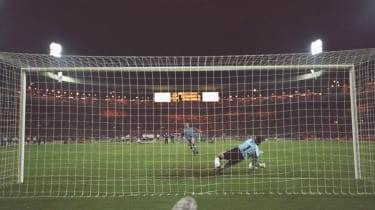 Gareth Southgate's penalty miss against Germany at Euro 96