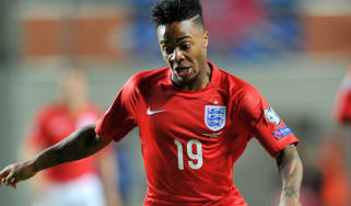 Raheem Sterling during match between England and Estonia