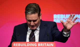 Keir Starmer addresses the 2019 Labour party conference.