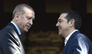 Turkish President Recep Tayyip Erdogan and Greek PM Alexis Tsipras