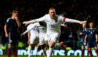 Wayne Rooney scored 53 goals in 119 England matches