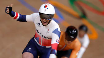 Jason Kenny won gold in the men's track cycling keirin final