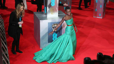 LONDON, ENGLAND - FEBRUARY 16:Lupita Nyong'o attends the EE British Academy Film Awards 2014 at The Royal Opera House on February 16, 2014 in London, England.(Photo by Tim P. Whitby/Getty Ima