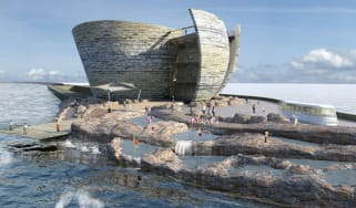 Image of the proposed Tidal Lagoon Swansea Bay project