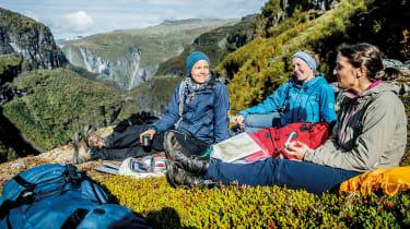 Hikers resting in Norway